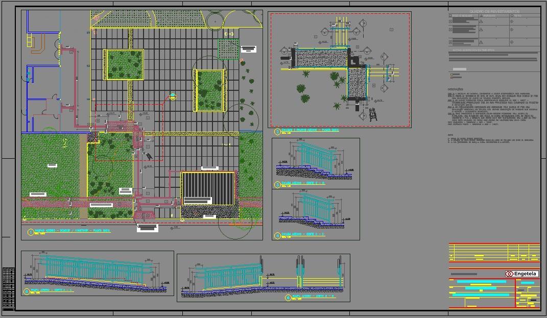 1º medição - Projeto Arquitetônico - Calçada
